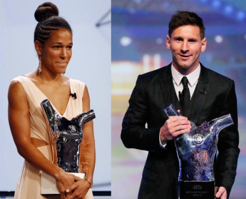 Célia Šašić y Lionel Messi