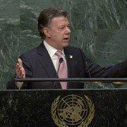 Juan Manuel Santos en la ONU