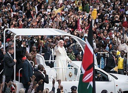 Papa en Kenya