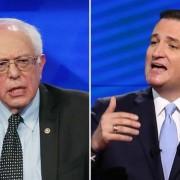 Sanders y Cruz (Getty)